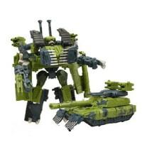 蒙巴迪儿童益智变形金刚3变模式绿幽灵坦克绿导弹机器人