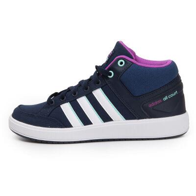 阿迪达斯Adidas BB9991网球鞋女鞋 NEO保暖高帮运动鞋休闲鞋板鞋 包裹性 防滑 减震 耐磨 平衡 轻便 透气