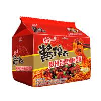 统一酱拌面贵州豆豉辣酱风味方便面111g*5包 方便面速食泡面