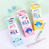 创意个性卡通大容量女小学生铅笔盒牛奶笔袋韩国可爱小清新文具盒