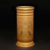 铜雕 纯铜粉金圆边双龙香筒摆件 批发佛教佛堂装香筒 *礼品礼物 佛堂