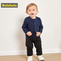 巴拉巴拉男童秋冬套头毛衣婴儿线衫儿童针织衫新款加绒加厚女
