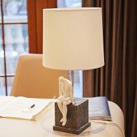 0512080811602 现代简约客厅书房卧室家居装饰品样板间复古台灯美式乔迁新居礼品