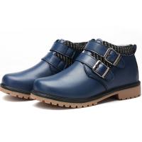 男童鞋2018新款冬季中大童马丁靴加绒加厚保暖棉鞋秋款儿童鞋子男