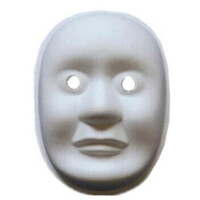 男脸女脸空白面具diy纸浆带绳彩绘化妆舞会万圣节儿童美术填色脸谱 多款可选
