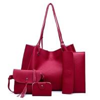 春季新款子母包女包欧美范单肩手提斜跨包百搭潮流户外旅游包包时尚大容量手拿妈咪包