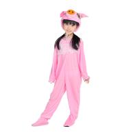 ) 儿童动物服装 小猪演出服 粉猪白猪黑猪黄猪红猪灰色猪卡 粉猪长款 170cm