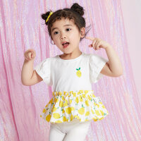 【1件2.5折到手价:37.3】moomoo童装女童短袖t恤新款婴童可爱拼接儿童装女童上衣夏装