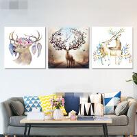 客厅装饰画沙发背景墙壁挂画 现代简约三联无框画 餐厅卧室水晶画kt9