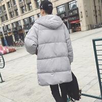 冬装韩版情侣装棉袄男士连帽长款棉衣外套男装面包服潮流