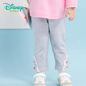 迪士尼Disney童装女童裤子纯棉春秋季新款宝宝休闲打底裤两用档173K771