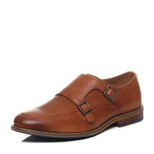 Tata/他她2017夏牛皮潮款皮带扣套脚商务男皮鞋22M23BM7