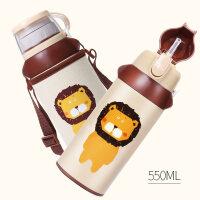 face儿童保温杯带吸管两用不锈钢防摔水壶小学生幼儿园宝宝水杯子a225