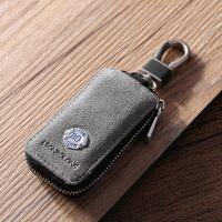 汽车钥匙包通用男士真皮个性定制创意遥控保护钥匙套翻毛皮拉链包
