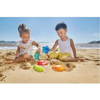 Hape海滨动物套1-6岁沙滩模型玩具套装儿童宝宝男女孩戏水玩具运动户外玩具