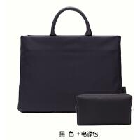 手提包男女公文包13.3寸14寸15.6寸简约商务文件袋笔记本电脑包