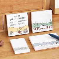 送中性笔 创意便利贴学生用粘性强晨光韩国ins便签可爱卡通少女心