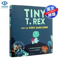 英文原版 Tiny T. Rex and the Very Dark Dark 精装儿童英语启蒙绘本 亲子互动