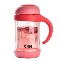 家用花茶玻璃杯双层办公茶杯带把过滤创意男女