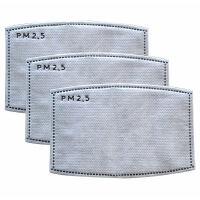 pm2.5防护口罩滤片滤芯5层活性碳女男士防雾霾韩国时尚冬儿童