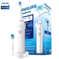 飞利浦(PHILIPS)声波电动牙刷HX3226成人牙龈呵护型牙刷头 HX3226/41樱花粉