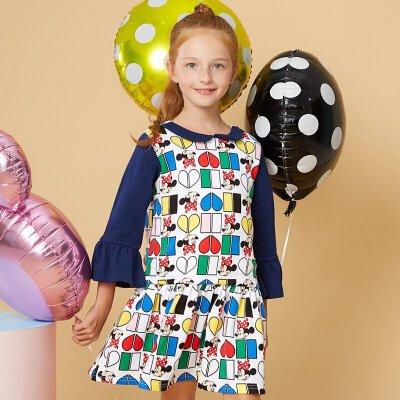 MooMoo 女童迪士尼针织连衣裙
