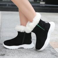 №【2019新款】冬天小朋友穿的女童雪地靴加绒儿童鞋秋冬款靴加厚棉鞋中大童短靴