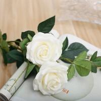 假玫瑰花束仿真花塑料花装饰客厅插花室内干花香皂保湿玫瑰花单支
