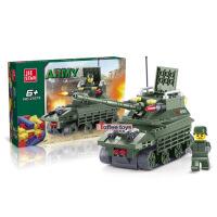 杰星战斗坦克 积木热销式启蒙益智组装拼插拼装塑料积木玩具23018