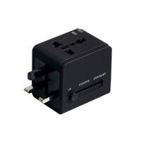 出国旅行插座充电器双USB2.1A通用转换插头礼品
