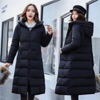 棉衣女装2018冬季新款长款修身外套棉袄加厚过膝连帽羽绒
