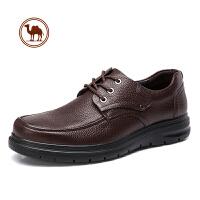 骆驼牌男鞋 新款秋冬男士皮鞋真皮男正装皮鞋系带商务鞋皮鞋