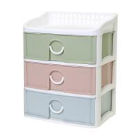 抽屉式塑料收纳盒厨房桌面储物盒文件饰品多层收纳柜护肤品置物架