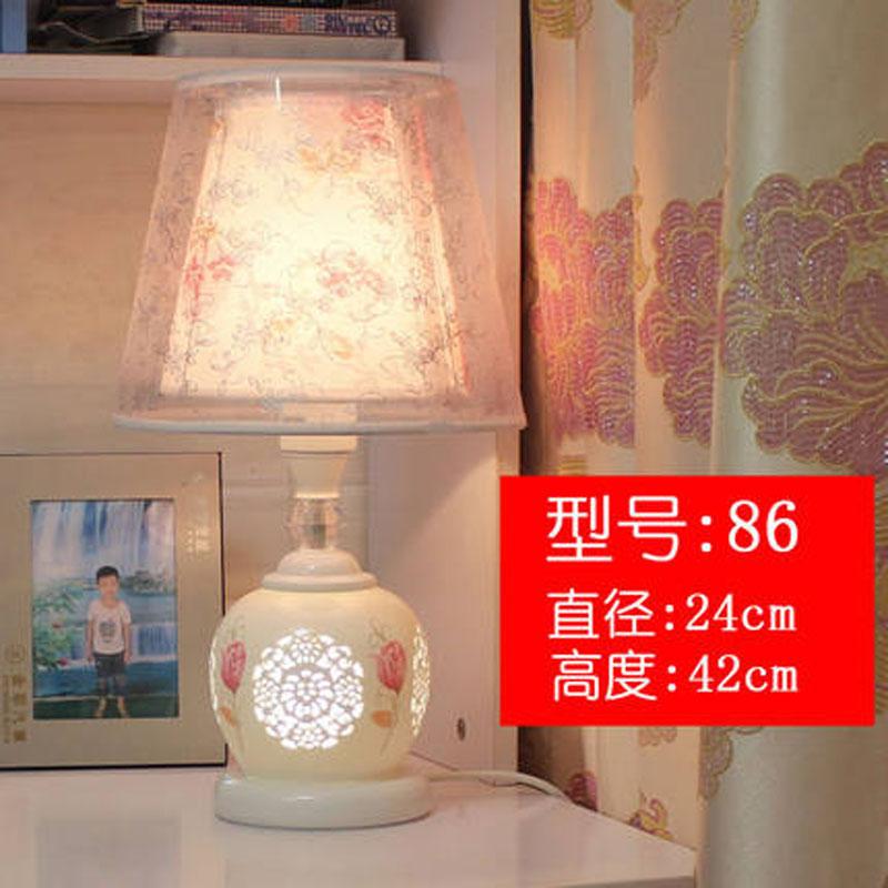 创意浪漫可调光遥控台灯卧室床头灯温馨暖光简约欧式陶瓷婚房