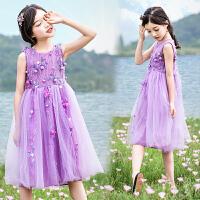 女童连衣裙夏装洋气公主裙小女孩纱裙儿童碎花夏季裙子