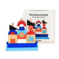木制建筑堆堆乐海盗船套柱积木儿童早教启蒙益智木质玩具