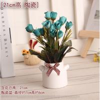 装饰摆件桌面杂物小物件摆放假花花卉盆栽套装饰品