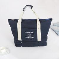 大容量旅行帆布包户外健身包单肩包可挂拉杆收纳包鞋整理袋登机包 大