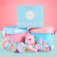 婴儿玩具3-6个月宝宝0-1岁新生儿益智牙胶摇铃可水煮套装玩具礼盒