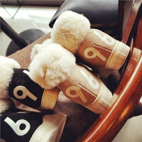 欧洲站冬季新款真皮羊毛运动鞋女内增高软底板鞋复古保暖学生女鞋