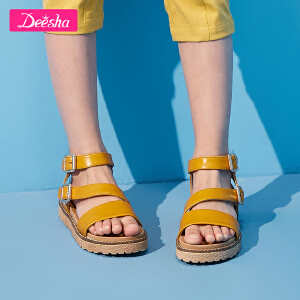 【3折价:89】笛莎女童凉鞋2019夏季新款时尚双搭扣休闲儿童凉鞋儿童鞋子