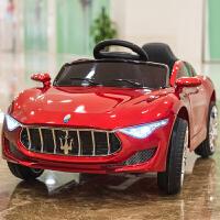 婴儿童电动车四轮带遥控汽车1-3-5摇摆童车宝宝玩具车可坐人BBHTC 烤漆红+推杆+皮座椅+自发电+摇摆 送小猪佩奇