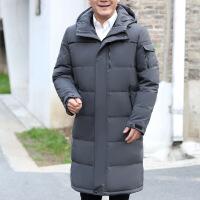 冬季新款中老年长款过膝男士羽绒服加厚爸爸冬装户外保暖大码外套