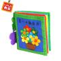 LALABABY/拉拉布书 0-12月早教手掌书 带宝宝牙胶 婴儿布书 一本颜色书