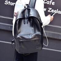 男士双肩包男休闲旅行背包电脑包韩版高中生大学生书包男时尚潮包