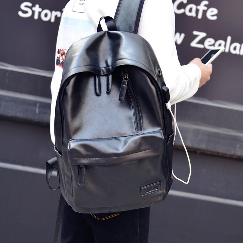 男士双肩包男休闲旅行背包电脑包韩版高中生大学生书包男时尚潮包 发货周期:一般在付款后2-90天左右发货,具体发货时间请以与客服协商的时间为准