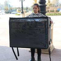 外卖保温箱加大餐箱泡沫箱特大号冷藏箱户外配送箱外卖包 288升黑色拉链款 外80*60*60