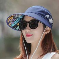 帽子女夏天韩版百搭防紫外线可折叠夏季骑车太阳帽防晒遮阳凉帽女