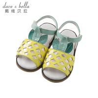 [3件3折价:78]戴维贝拉夏季新款女童凉鞋宝宝卡通露趾凉鞋DB10255