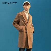 【1件3折到手价:521.97】MECITY男装春秋羊毛羊绒中长款休闲毛呢大衣男士外套